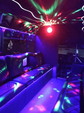 White Limo Bus Interior